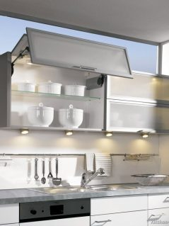 kitchen-cabinets-modern-two-tone-160-A049c-gray-white-aluminum-glass-bi-fold-door-lift