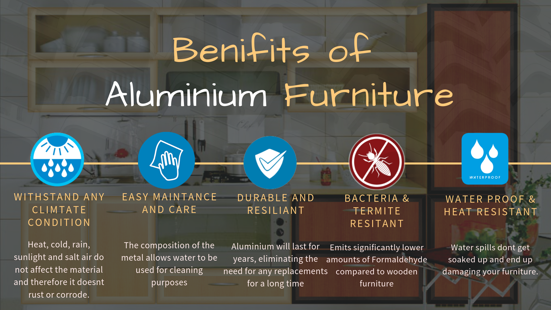 Benifits of Aluminium Furniture
